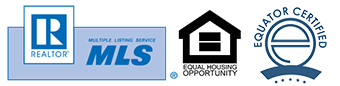 Realtor logo Equal Housing Opportunity logo Equator Certified logo